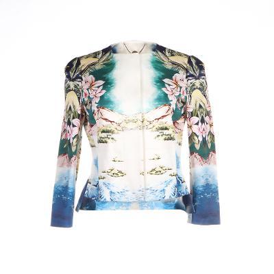 floral pattern blazer multi